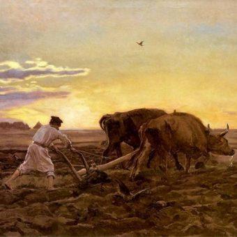 "obraz Józef Chełmoński ,,Orka"""